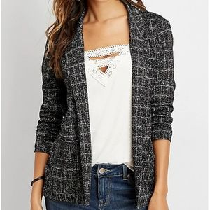 Maurices Menswear Patterned Open Front Blazer XL